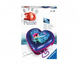 Ravensburger 11249 - 3D детски пъзел Кутия за бижута сърце - Русалки