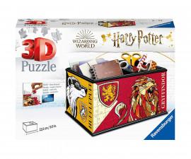 Ravensburger 11258 - 3D детски пъзел 216 ел. - Кутия за съхранение, Хари Потър