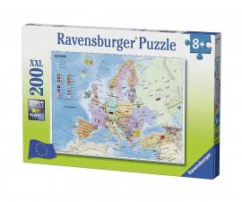 Ravensburger 12841 - Детски пъзел 200 ел. XXL - Карта на Европа