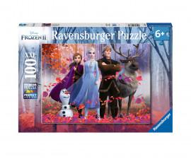 Детски пъзел Ravensburger 100 ел. XXL - Замръзналото кралство 2 - Омагьосаната гора