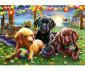 Пъзел за деца Ravensburger 100 ел. XXL - Кучешки пикник thumb 2