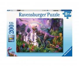 Пъзел за деца и възрастни Ravensburger 200 части XXL - Кралят на динозаврите