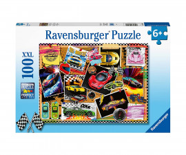 Ravensburger 12899 - Детски пъзел 100 ел. XXL - Състезателни коли