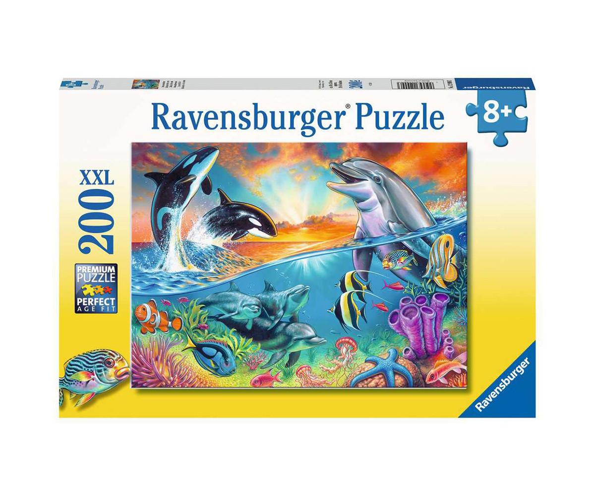 Детски пъзел Ravensburger 200 ел. XXL - Животът в океана