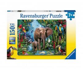 Детски пъзел Ravensburger 150 ел. XXL - Слонове в оазиса