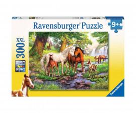 Пъзел за деца Ravensburger 300 ел. XXL - Коне до потока