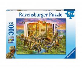 Детски пъзел Ravensburger 300 ел. XXL - Книгата на динозаврите