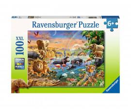Пъзел за деца Ravensburger 100 ел. XXL - Савана