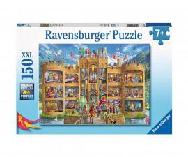 Ravensburger 12919 - Детски пъзел 150 ел. ХХL - Изглед към рицарския замък
