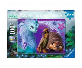Ravensburger 12920 - детски пъзел 100 ел. XXL - Рая и последния дракон