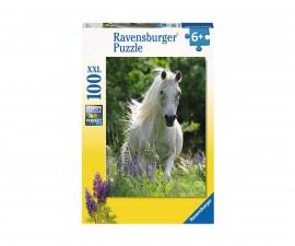 Ravensburger 12927 - Детски пъзел 100 ел. XXL - Бял кон
