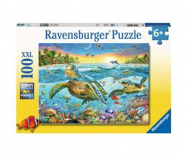 Ravensburger 12942 - Детски пъзел 100 ел. ХХL - Mорски костенурки
