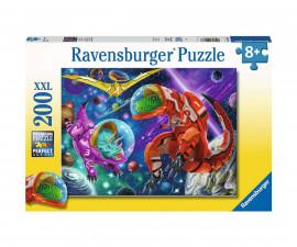 Ravensburger 12976 - Детски пъзел 200 ел. XXL - Динозаври в космоса