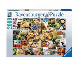 Пъзел за възрастни Ravensburger 2000 ел. - Колаж от храни