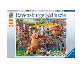 Ravensburger 15036 - пъзел 500 ел. - Сладки кучета в градината