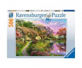 Пъзел за деца и възрастни Ravensburger 500 части - Къща в провинцията