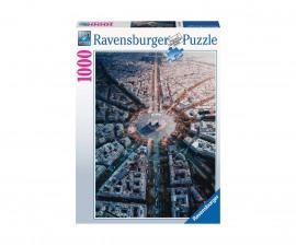 Пъзел за възрастни Ravensburger 1000 ел. - Париж отвисоко