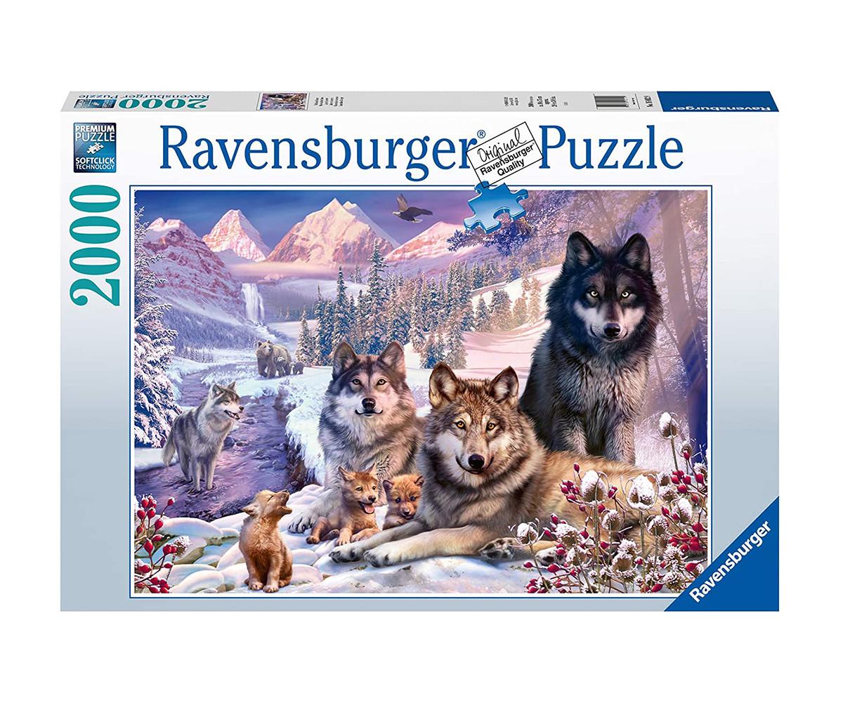 Пъзел за възрастни Ravensburger 2000 ел. - Вълци в снега
