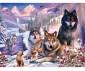 Пъзел за възрастни Ravensburger 2000 ел. - Вълци в снега thumb 2