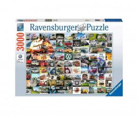 Пъзел за възрастни Ravensburger 3000 ел. - Моменти от къмпингуване