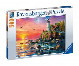 Ravensburger 16581 - пъзел 500 ел. - Фар на залез