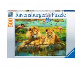 Ravensburger 16584 - пъзел 500 ел. - Лъвове в саваната