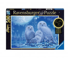 Ravensburger 16595 - пъзел 500 ел. - Сови на лунна светлина