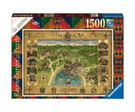 Ravensburger 16599 - детски пъзел 1500 ел. - Хари Потър - Карта на Хогуортс