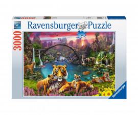 Ravensburger 16719 - пъзел 3000 ел. - Тигър в райска лагуна