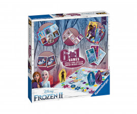 Комплект детски настолни игри Ravensburger 6-в-1 - Замръзналото кралство 2