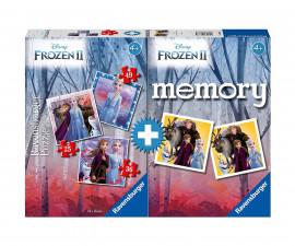 Ravensburger 20673 - детски пъзел к-т 3-в-1 + мемори: Замръзналото кралство