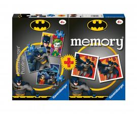 Ravensburger 20677 - детски пъзел к-т 3-в-1 + мемори: Батман