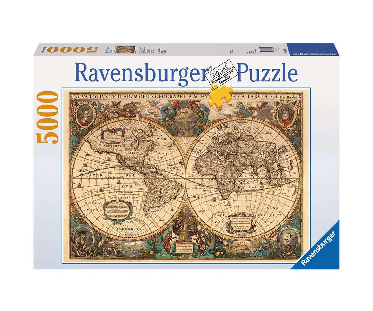 Пъзел за възрастни Ravensburger 5000 ел. - Антична карта на света