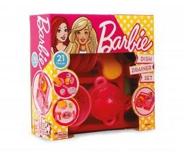 Dede 01753 - Комплект домашни съдове със сушилник, Барби