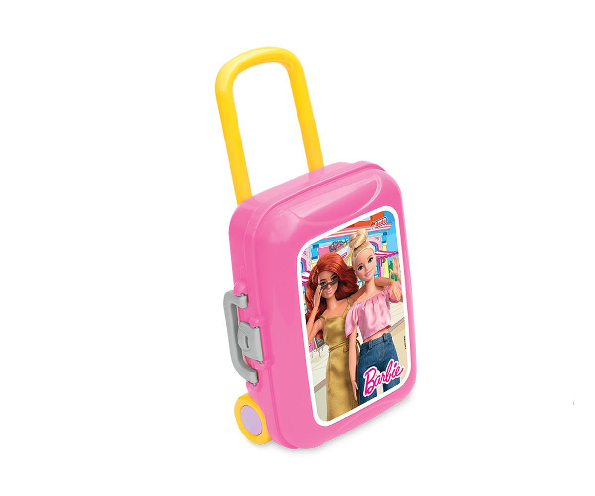 Dede 03486 - Комплект за красота в куфар на колела, Барби
