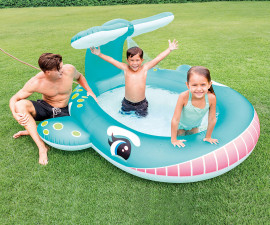 детски надуваем басейн с пръскалка Кит Интекс