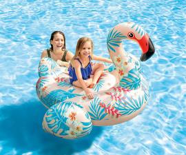 детска надуваема играчка за яздене Тропическо фламинго Интекс