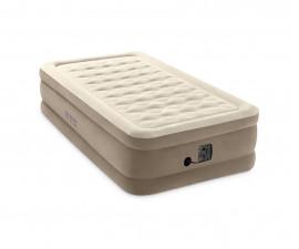 надуваем матрак с вградена електрическа помпа Интекс Ultra Plush с размери 99 х 191 х 46 см.