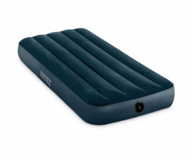 INTEX 64731 - JR Twin Dura-Beam Midnight Green Downy Airbed