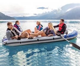 надуваема лодка в комплект с гребла и помпа Интекс Excursion 5