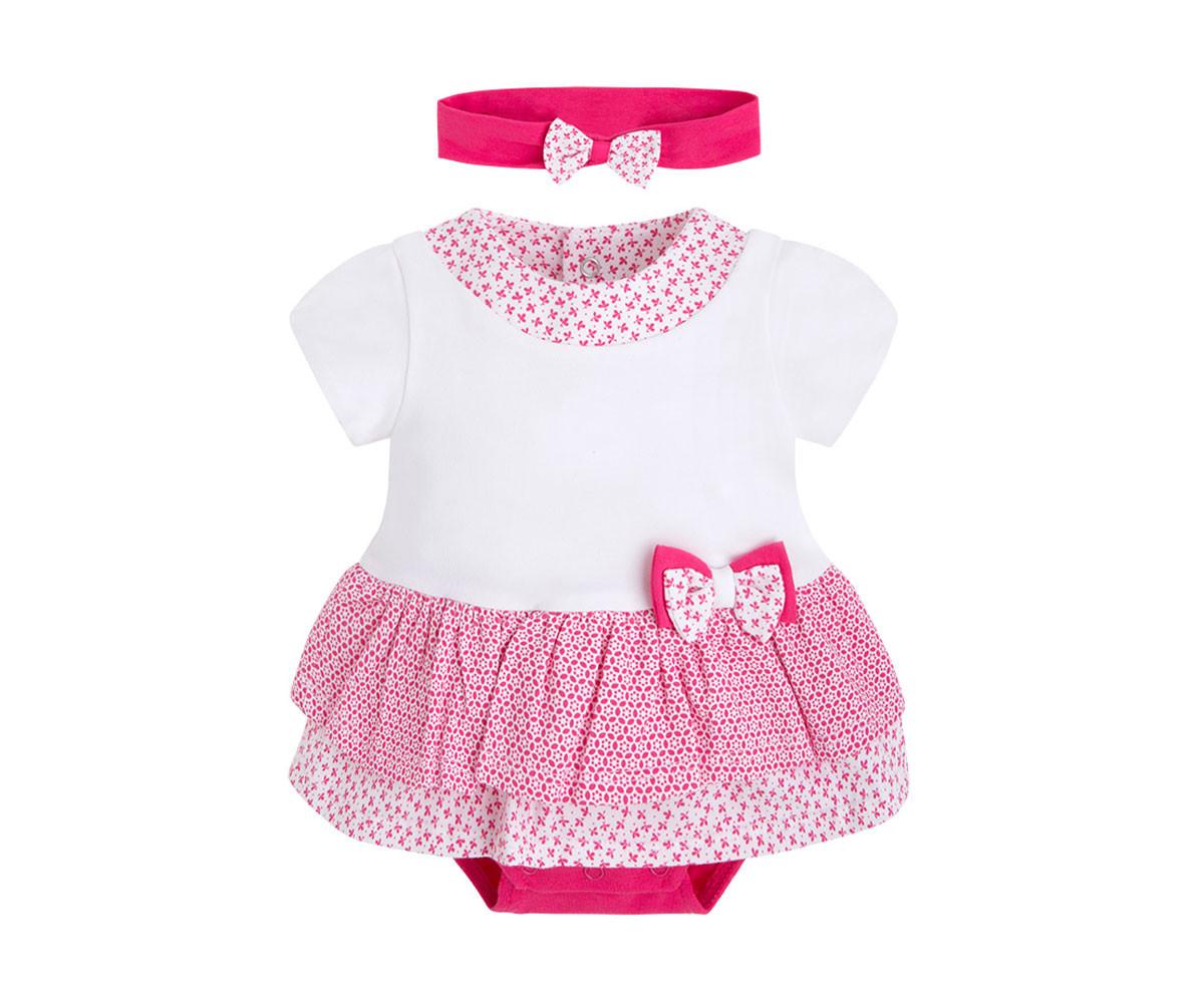 7416a88221a Гащеризон рокля къс с лента за глава Mayoral, момиче, цвят 46, 0-6 м., ръст  50-68 см. | КОМСЕД | КОМСЕД