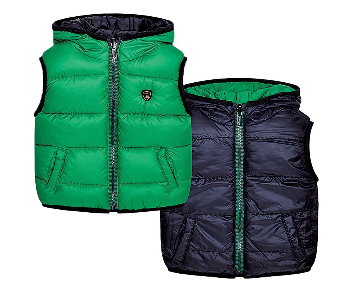 b5d90d78a67 Двулицев елек с качулка Mayoral, зелено-син, момче, 6-36 м. | КОМСЕД
