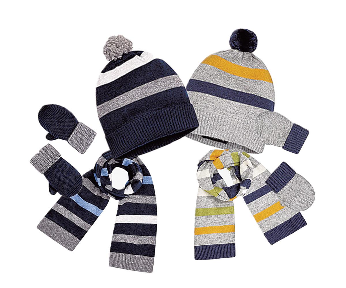 b89c2cbb417 Комплект зимни шапка, шал и ръкавици Mayoral, 2 цвята, момче, 18 м ...