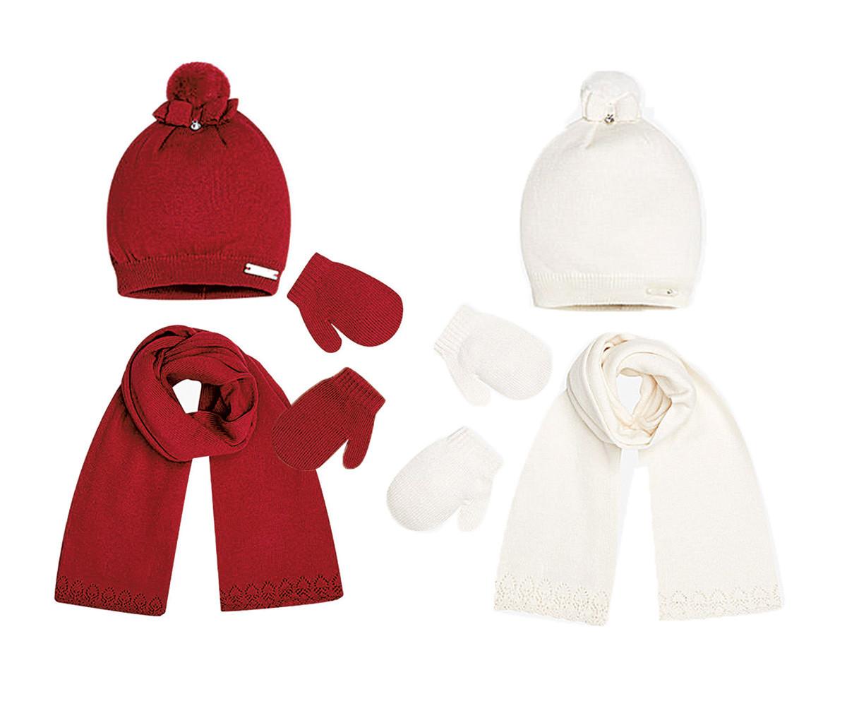 f6e7c58c6bf Комплект зимни шапка, шал и ръкавици Mayoral, 2 цвята, момиче, 18 м ...
