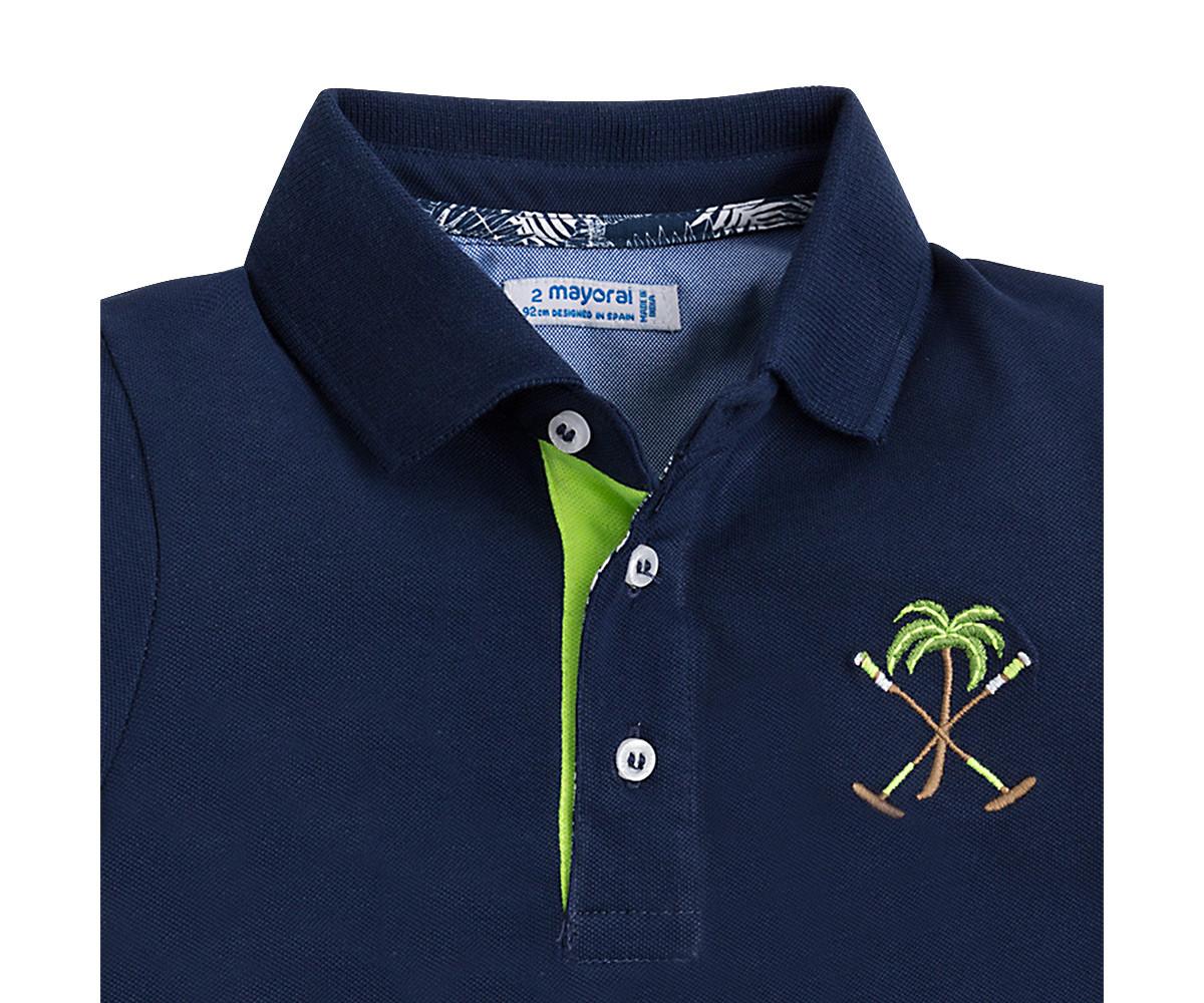 9b9ae1fc506 Детска тениска с яка и къси ръкави Mayoral (фабр. № 3128) за момче ...
