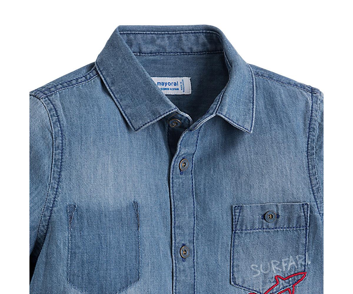 b210d210a77 Детска дънкова риза с щампа Mayoral (фабр. № 3160) за момче, 2-9 г ...