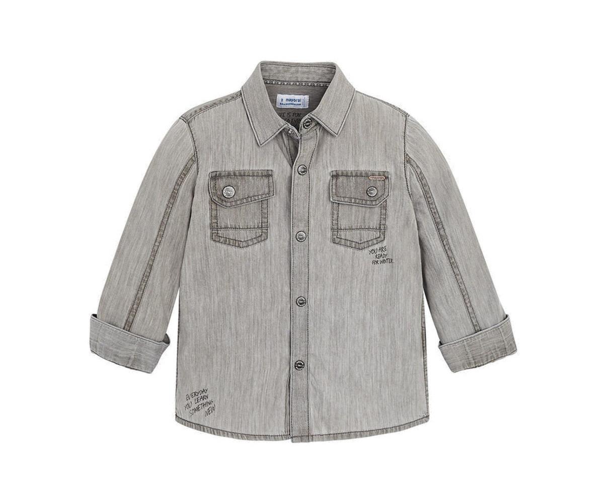 e7ad2b24c83 Детска дънкова риза за момче Mayoral W18-04152-038, 3-9 г. | КОМСЕД