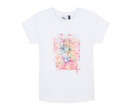 3Pommes-Тениска бяла с щампа коте 3/4 год. (3Помс)