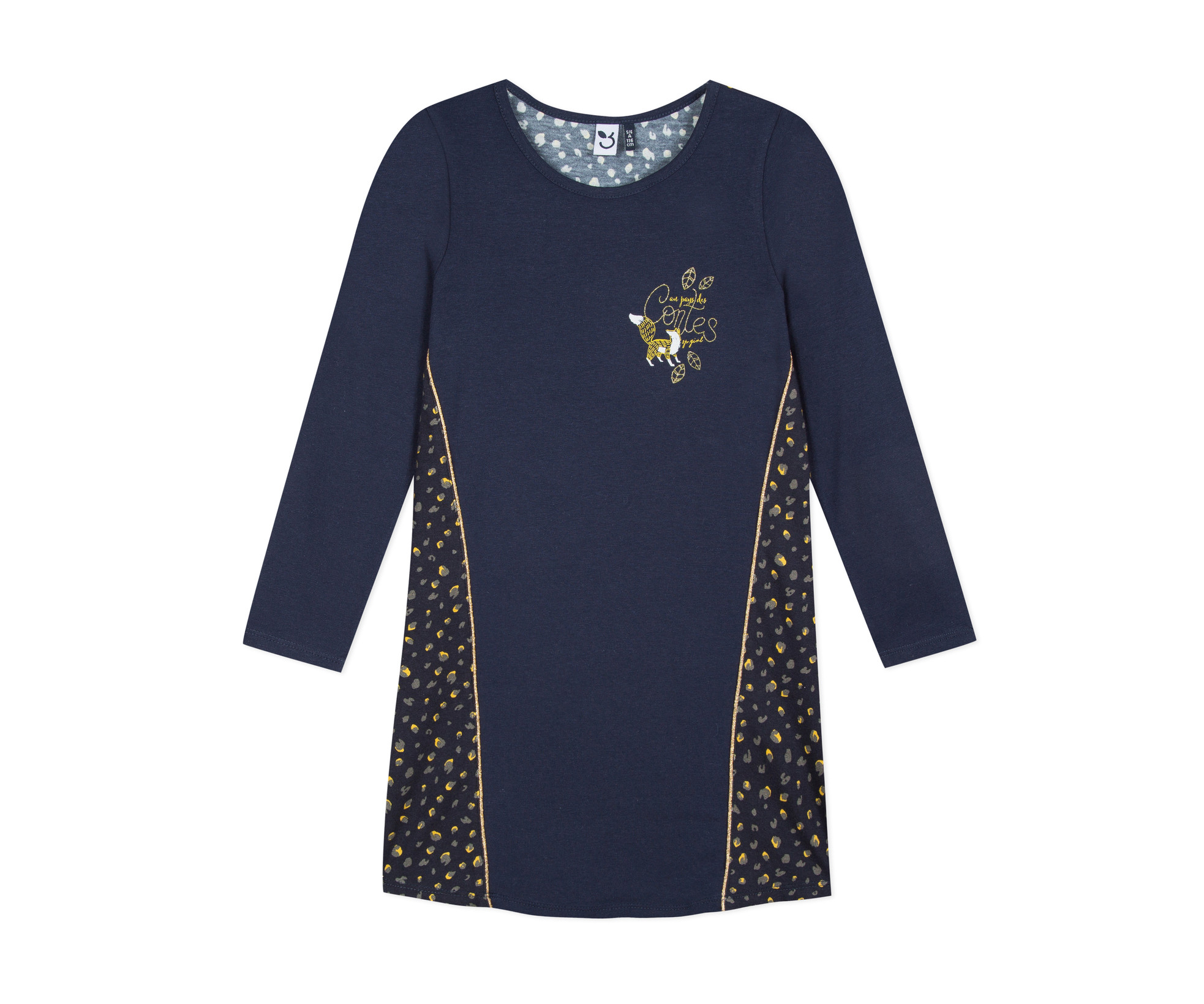 Детска рокля с дълъг ръкав 3Pommes 3P30034-485, 3-10 г.