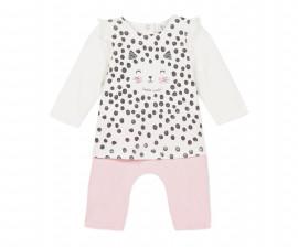 Детско боди блузка с панталон 3Pommes 3P32050-300, за момиче на възраст 0-6 м.